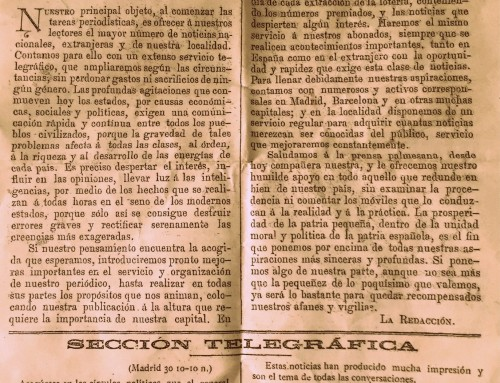 125 Years – 01/05/1893 – First publication Ultima Hora